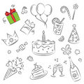 Vector Sketch Clipart Set Royalty Free Stock Photo