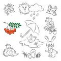 Vector Sketch set Stock Photo