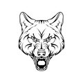 Vector sketch of a wolf.