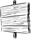 Vector sketch of a wooden message board Royalty Free Stock Images