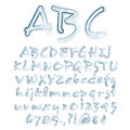 Vector sketched alphabet abstract illustration of a Royalty Free Stock Photos