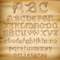 Vector sketched alphabet abstract illustration of an old Royalty Free Stock Images