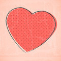 Vector sketchy vintage red heart Stock Photography