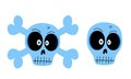 Vector skulls funny illustration isolated on white background Stock Images