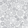 Vector Sliver Grey Abstract Doodle Circles Seamless Pattern Background. Great for elegant gold texture fabric, cards Royalty Free Stock Photo