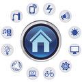 Vector smart house concept Royalty Free Stock Photos