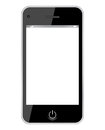 Vector smartphone illustration over white Stock Photography