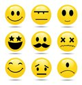 Vector Smile Icon Set Royalty Free Stock Photo