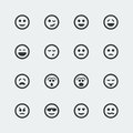 Vector smile icons set Royalty Free Stock Photo