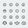 Vector smile mini icons set Stock Images