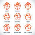 Vector Smiles Icons Royalty Free Stock Photo