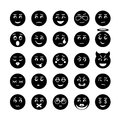 Vector smiley faces icon collection illustration of signs Stock Image