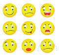 Vector Smilies Royalty Free Stock Photography