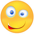 Vector - Smiling emoticon expressing Bewilderment