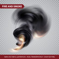 Vector Smoke on transparence background. Vector illustration