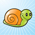 Vector Snail Stock Photo