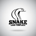 Vector Snake logo template for sport teams, business etc Royalty Free Stock Photo