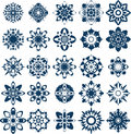 Vector snow flake collection twenty five abstract flakes Stock Photo