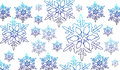 Vector snow flake conceptual background winter is here Stock Images