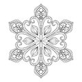 Vector Snow Flake In Zentangle...