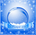 Vector of snow globe Stock Photography