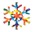 Vector snowflake Stock Photography