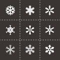 Vector snowflake icon set Royalty Free Stock Photo