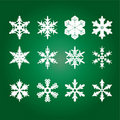 Vector Snowflakes Stock Photos