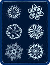 Vector snowflakes 2 Stock Images