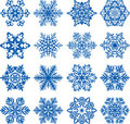 Vector snowflakes Royalty Free Stock Photography