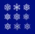 Vector snowflakes eps set of beautiful sketch for your christmas design Royalty Free Stock Image