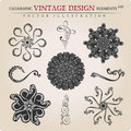 Vector Snowflakes vintage decor Royalty Free Stock Photography