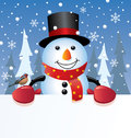 Vector snowman Stock Photos