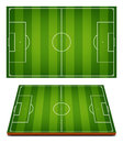 Vector Soccer Fields Striped Grass Royalty Free Stock Photo