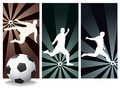 Vector Soccer Players Royalty Free Stock Images