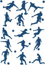 Vector of Soccer players Stock Photography