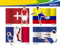 Vector soccer players with brazil group e illustration Stock Photography