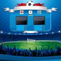 Vector Soccer Scoreboard Stock Images