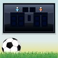 Vector soccer scoreboard vector template display with space for your text and design Stock Photo