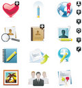 Vector social media icon set Royalty Free Stock Photography