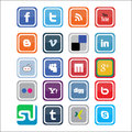Vector Social Media Icons Stock Photography