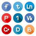 Vector social network buttons