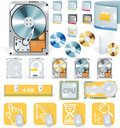Vector software and hardware icon set Royalty Free Stock Photo