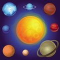 Vector solar system concept abstract icons Stock Photos