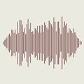Vector sound waves set audio equalizer technology pulse musical illustration eps Stock Image