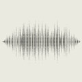 Vector sound waves set audio equalizer technology pulse musical illustration eps Royalty Free Stock Images