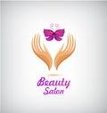 Vector spa, beauty salon, cosmetics, massage logo.