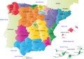 Vector Spain map