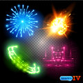 Vector Special Effects Set 4 Royalty Free Stock Photo