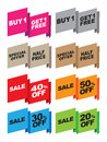 Vector special offer labels Stock Images